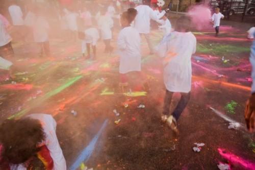 Saturday Fiesta paint fight