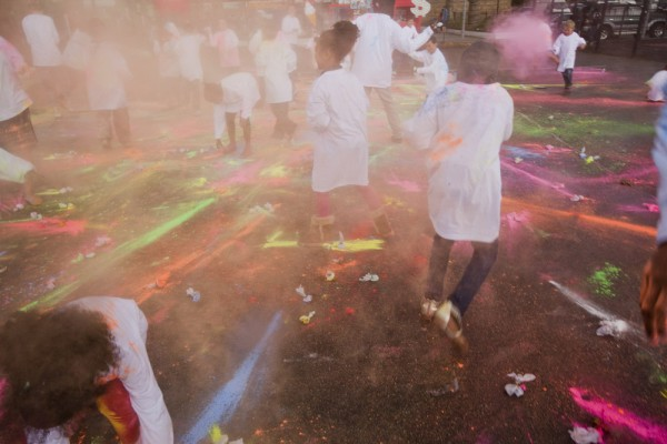 Saturday Fiesta paint fight