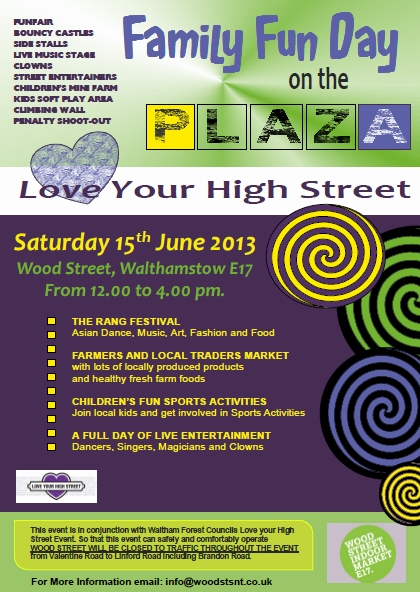 Wood St fun day poster
