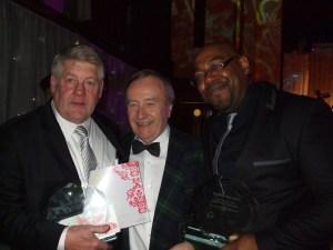 Graham Hodgkiss and Step[hen Barnabis at the awards night