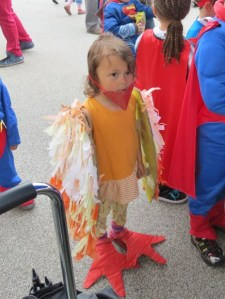 Wood St plaza fancy dress winning child