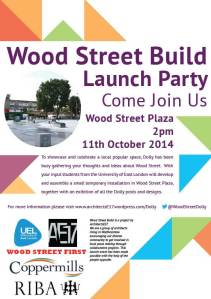 Wood St project launch poster