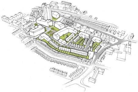Plaza aerial sketch