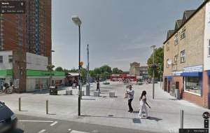 Google street view of Wood Street Plaza