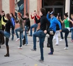 Flash mob photo