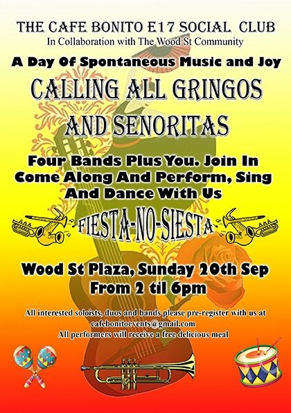 Poster for Bonitos event 20 Sept 2015