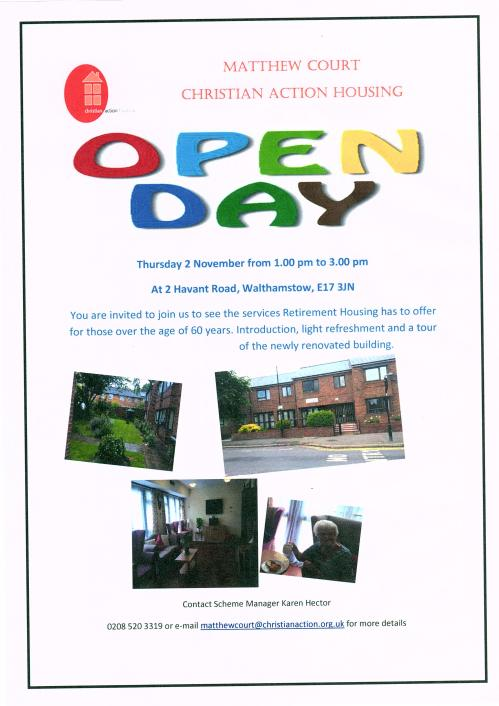 Matthew Ct Open Day 2 Nov 17