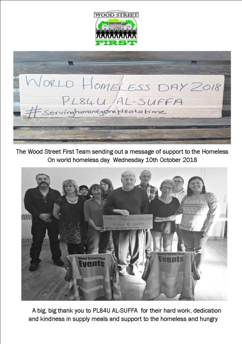 World Homeless Day .
